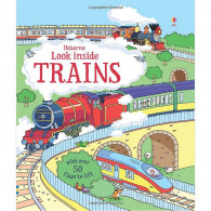 英國 Usborne-Look Inside Trains 火車百科翻翻書