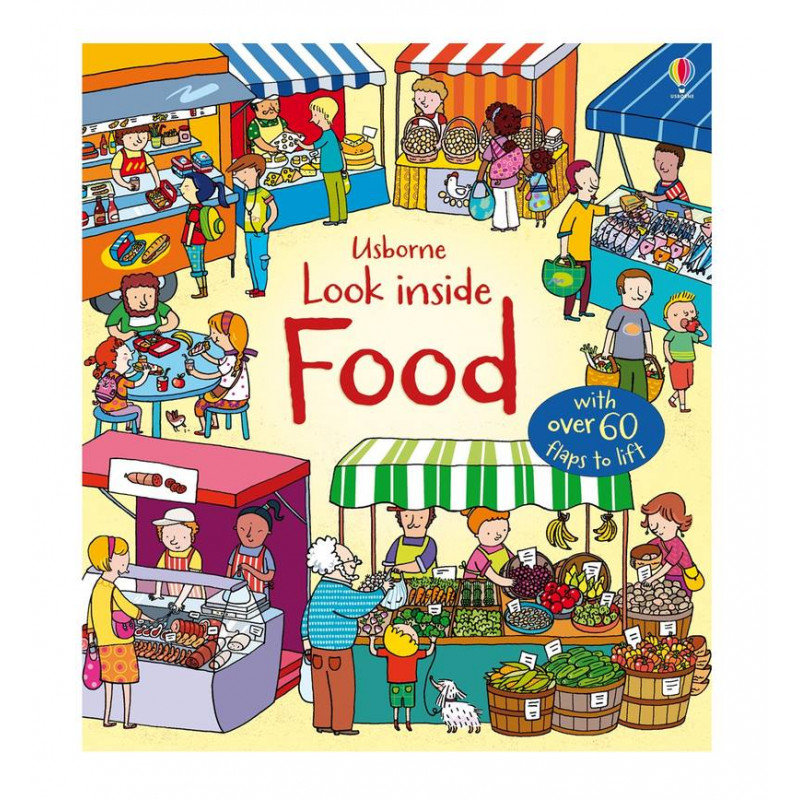 英國 Usborne-Look Inside Food 食物百科翻翻書