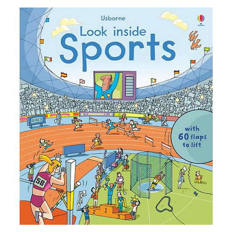 英國 Usborne-Look Inside Sports 運動百科翻翻書