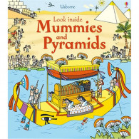 英國 Usborne-Look Inside Mummies & Pyramids 古埃及翻翻書