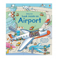 英國 Usborne-Look Inside an Airport 航空百科翻翻書