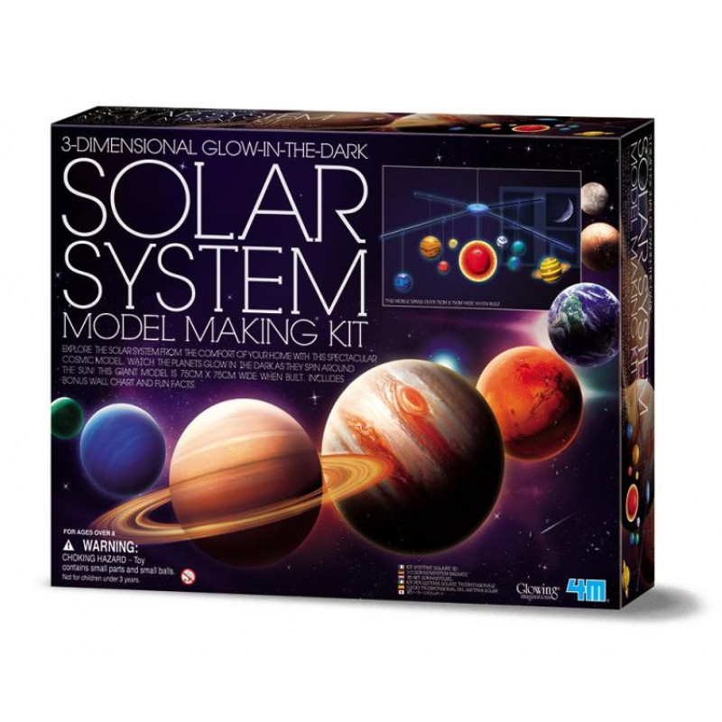 4M科學探索-3D立體太陽系 3DSolar System Mobile Making Kit