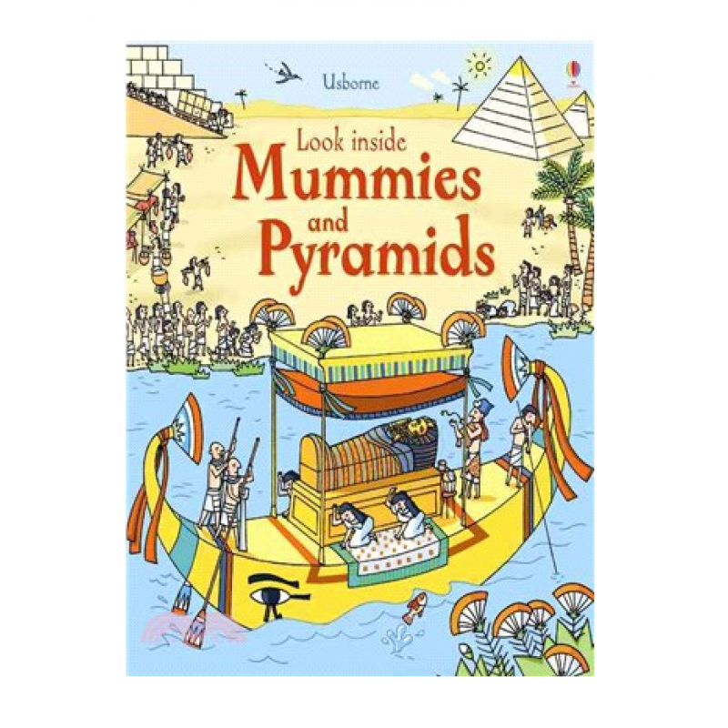 英國Usborne 翻翻書-木乃伊與金字塔 Look Inside Mummies & Pyramids
