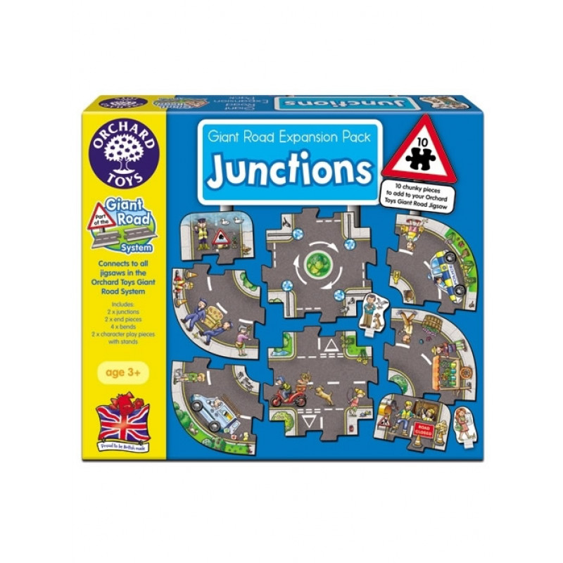 英國Orchard Toys 遊戲拼圖-道路組 Giant road jigsaw