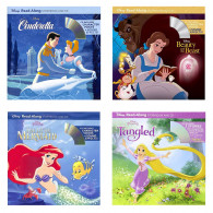 迪士尼Beauty and the Beast、The Little Mermaid、Tangled and Tangled Ever After(2個故事)、Cinderella 經典童話故事公主系列(4書+4CD)