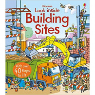 英國 Usborne-Look Inside a Building Site 建築工地翻翻書