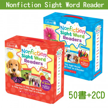 【75折】Nonfiction Sight Word Readers A+B│常見字小書(入門組)