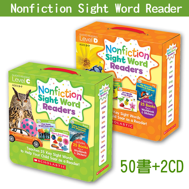 【75折】Nonfiction Sight Word Readers C+D│常見字小書(進階組)