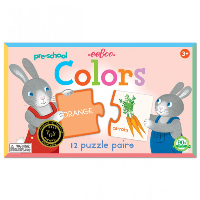 eeBoo- 英文配對拼圖(顏色)Preschool Colors Puzzle Pairs