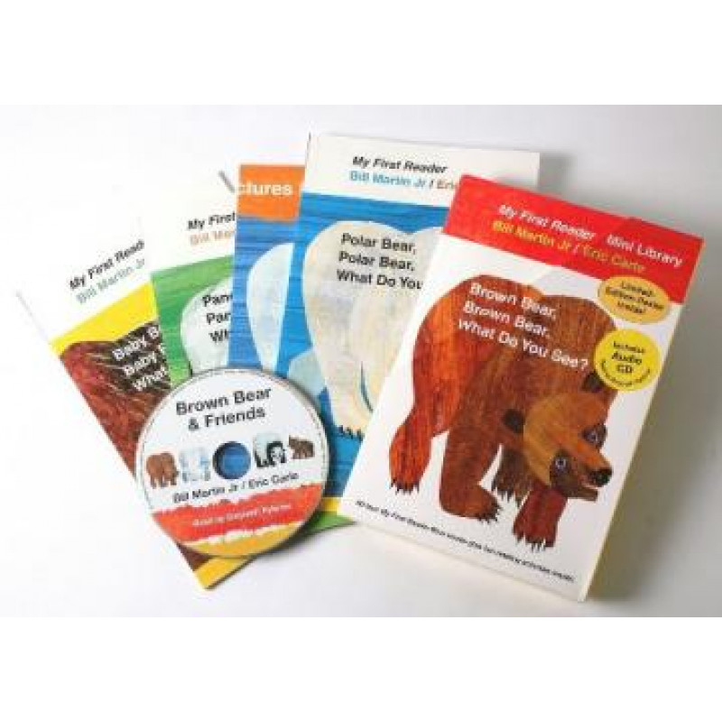 Eric Carles Bear Book+CD (4書+CD)