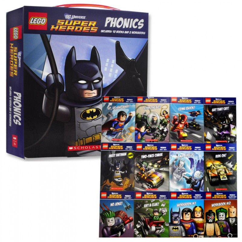 【樂高DC超級英雄】自然發音套書 LEGO DC Super Heroes:Phonics Boxed Set(共10書&2本練習本)