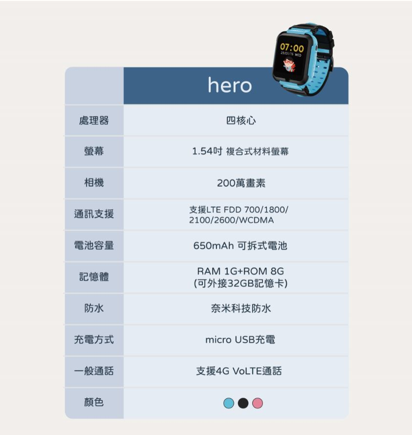 視訊 手錶 hereu herowatch hereu herowatch 定位